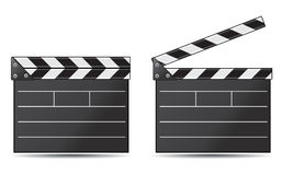 Movie clapper board. On a white background Stock Photo