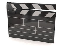 Movie clapper board. 3d illustration of movie clapper board Royalty Free Stock Photo