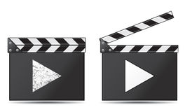 Movie clapper board. On a white background Royalty Free Stock Photography
