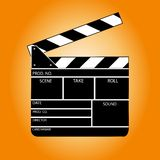 Movie clapper board. Vector illustration Royalty Free Stock Photo