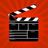Movie clapper board Stock Image