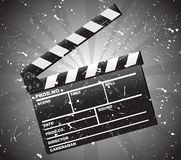 Movie clapper board stock illustration