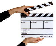 Movie clapper board stock images