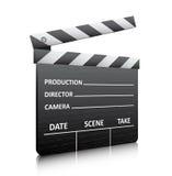 Movie clapper board. Vector illustration of movie clapper board Stock Photo
