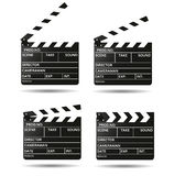 Movie clapper board Black open clapperboard. Realistic film clapper Royalty Free Stock Photo