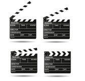 Movie clapper board Black open clapperboard. Realistic film clapper Royalty Free Stock Photo