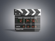 Movie clapper board high quality 3d render isolated on grey Royalty Free Stock Photo