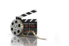 Movie clapper board high quality 3d render on white. Movie clapper board high quality 3d render on Stock Images