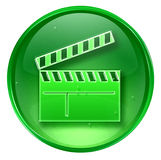 Movie clapper board icon Royalty Free Stock Photo