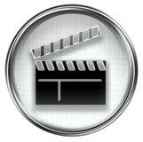Movie clapper board icon grey Stock Images