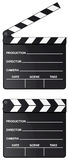 Movie clapper board isolated. Movie clapper board set isolated on white background Stock Image