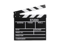 Movie clapper board isolated Royalty Free Stock Images