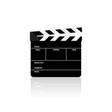 Movie clapper board isolated  illustration. Movie clapper board isolated on white background  illustration Stock Photos