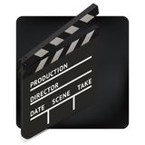 Movie clapper board isometric vector Royalty Free Stock Photos
