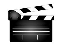 Movie clapper board, movie maker  Royalty Free Stock Photos