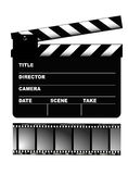 Movie Clapper Board, vector Royalty Free Stock Image