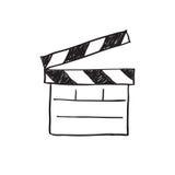Movie clapper board Stock Image