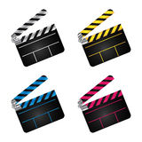 Movie clapper boards Royalty Free Stock Photography