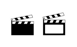 Movie clapper boards Stock Photos