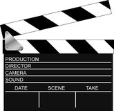 Movie clapper. Movie filming clapper. Vector illustration Royalty Free Stock Images