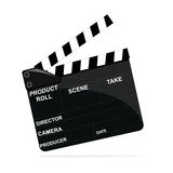 Movie clapper icon. Detailed illustration of a movie clapper  on white Stock Photo