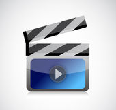 Movie clapper illustration design Royalty Free Stock Image