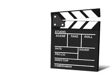 Movie clapper isolated on white background, cinema concept.  Royalty Free Stock Images