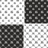 Movie Clapper or Movie Clapboard Big & Small Seamless Pattern Set. This image is a illustration and can be scaled to any size without loss of resolution Stock Image