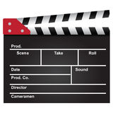 Film clapperboard. Movie clapper used in the film industry. Background. Vector illustration Royalty Free Stock Image