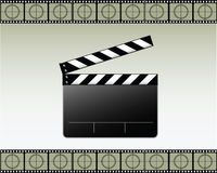 Movie Clapper Vector. The film wrapper Stock Images