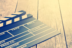 Movie clapper. Vintage photo shot. Royalty Free Stock Images