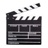 Movie clapperboard. Blank clapperboard isolated on white background Stock Photos