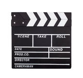 Movie clapperboard Stock Images