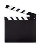 Movie clapperboard. Movie clapper board isolated on white background Stock Photos
