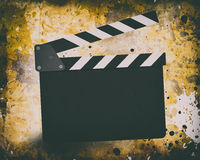 Movie clapperboard on a grunge Stock Photo