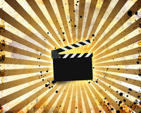 Movie clapperboard on a grunge Royalty Free Stock Photos