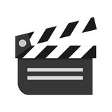 Movie clapperboard icon Royalty Free Stock Photos
