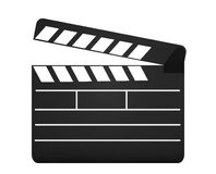 Movie clapperboard isolated on white. Background Royalty Free Stock Image
