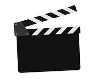 Movie clapperboard on a white. Movie clapperboard isolated on white background Royalty Free Stock Images