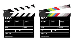 Movie clappers Royalty Free Stock Images