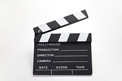Movie clip. Closed cinema slate. Customizable and Isolated over white, camera, clapboard, clip, video, clapperboard, footage, take, roll, chalkboard, movie stock photography