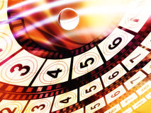 Movie count down background Royalty Free Stock Photo