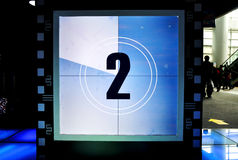 Movie Countdown. The movie countdown to 2.Taken at the Film Technology and Art Exhibition in Chongqing Science and Technology Museum, in Chongqing, China Royalty Free Stock Photo