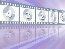 Movie countdown Royalty Free Stock Photos