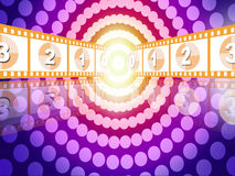 Movie countdown Stock Image