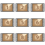 Movie countdown numbers  set Stock Image