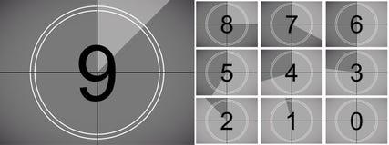 Movie countdown retro vector cinema screen vector illustration