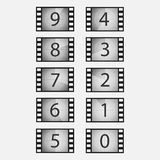 Movie countdown vector set Stock Image