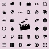 Movie cracker icon. Detailed set of minimalistic icons. Premium graphic design. One of the collection icons for websites, web desi. Gn, mobile app on colored Royalty Free Stock Images