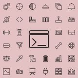 Movie cracker icon. Detailed set of minimalistic line icons. Premium graphic design. One of the collection icons for websites, web. Design, mobile app on Royalty Free Stock Images